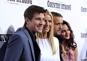 Actors Garrett Hedlund,  Gwyneth Paltrow,Tim McGraw, Leighton Meester arrive at the screening of Screen Gems' 'Country Strong' at The Academy of Motion Picture Arts & Sciences on December 14, 2010 in Beverly Hills, California.