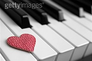 Valentine on piano