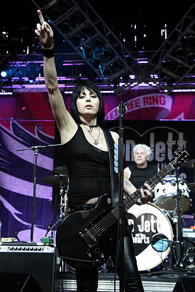Joan Jett and the Blackhearts perform at the 2010 Virgin Mobile FreeFest at Merriweather Post Pavillion on September 25, 2010 in Columbia, Maryland