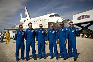 Space Shuttle Discovery Continues On Its Last Mission