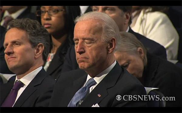 Joe Biden Asleep