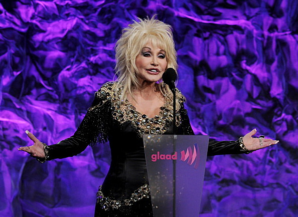 Dolly Parton speaks onstage at the 22nd Annual GLAAD Media Awards
