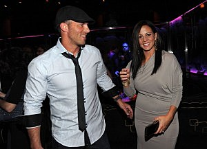 Jay Barker and Sara Evans attend a celebration of Nashville in Vegas