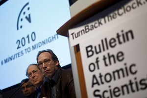 Bulletin of Atomic Scientists Turns Back Doomsday Clock