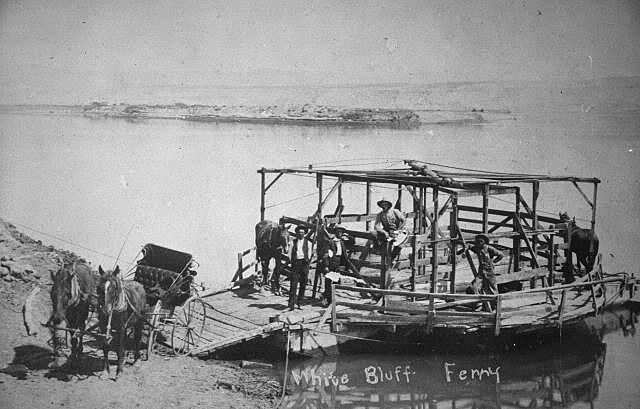White Bluffs Horse-powered Ferry, 1909