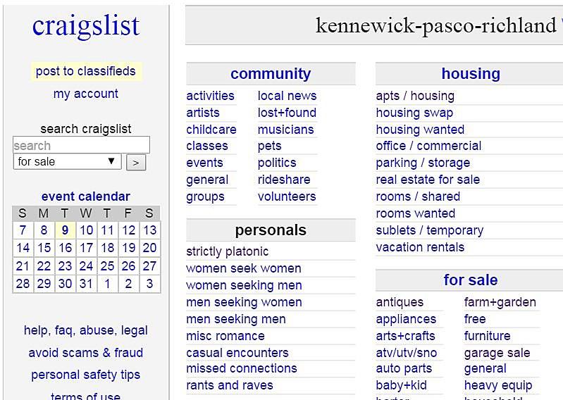 Craigslist in kennewick washington