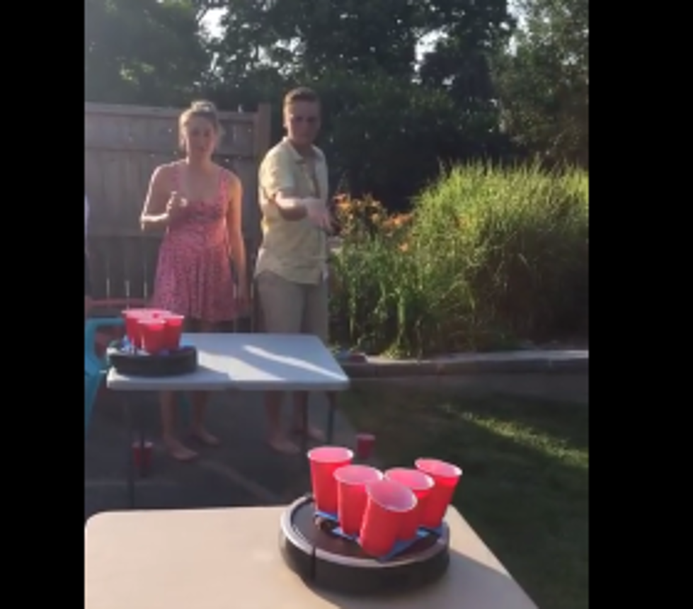 roomba beer pong a moving target