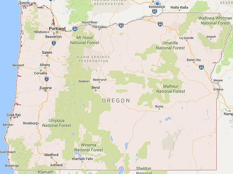 See The Most Dangerous Cities In Oregon - Map of oregon with cities