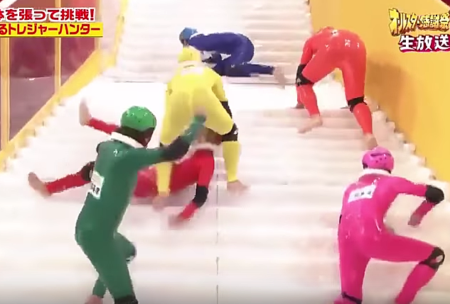 Exceptional Japanese Game Show U0027Slippery Stairsu0027 Is Hilarious!